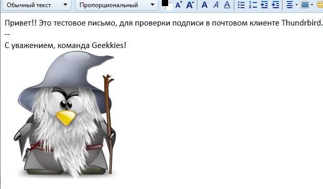 Mozilla thunderbird как в подпись вставить картинку 2