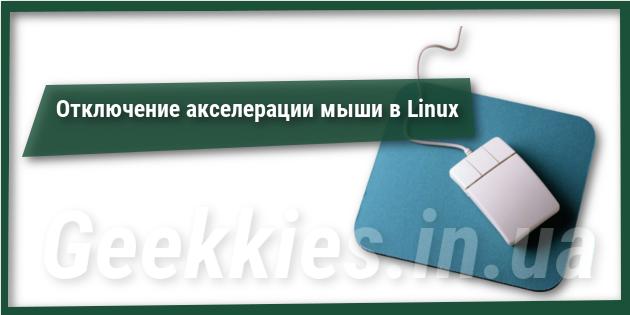 Отключение акселерации мыши в Linux